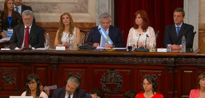 Asunción y mensaje de Alberto Fernández ante la Asamblea Legislativa