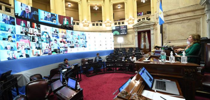 Senado trató proyectos para trabajadores de la salud y seguridad
