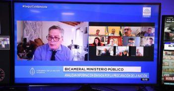 LA BICAMERAL DEL MINISTERIO PÚBLICO ESCUCHÓ A UN ABOGADO DEFENSOR DE LA DENOMINADA CAUSA CUADERNOS